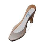 Extra-thin lined silicone insoles with metatarsal pad for ladies - PL700F (ref. 145)