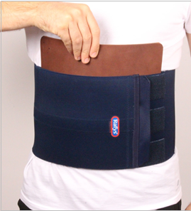 Low Back brace + leer vooraan - man