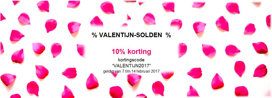 VALENTIJN: geniet van 10% korting op de webshop-bestellingen!