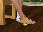 Rekken met tennisbal
