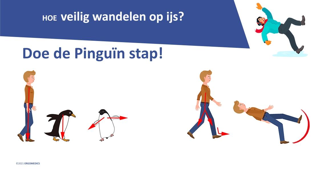 Hoe veilig wandelen op ijs? Doe de Pinguïnstap!